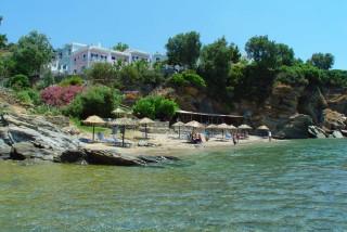 beach aneroussa hotel sea