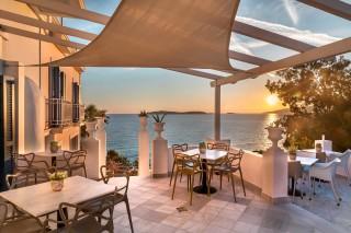 breakfast room aneroussa beach sunset view